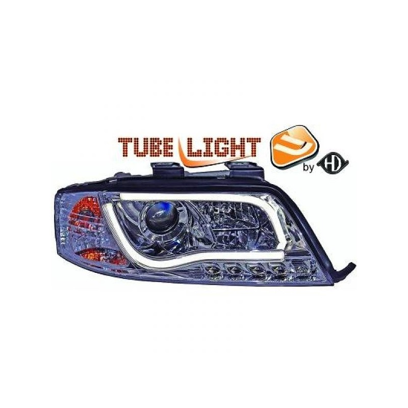 Phares LTI Light Tube Inside Audi A6 97-01 cristal/chrome