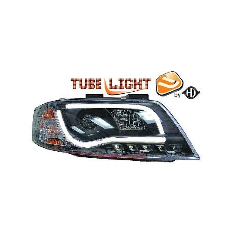 Phares LTI Light Tube Inside Audi A6 97-01 cristal/noir