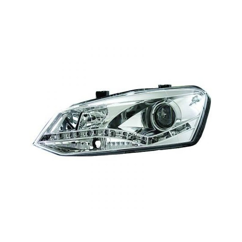 Phares DEVIL EYES Vw POLO 10 chrome optique TFL
