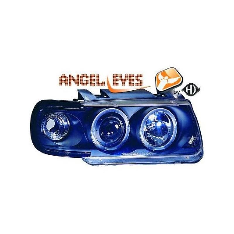 Phares angel eyes noir . Vw POLO 94-99