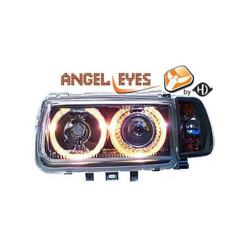 Phares angel eyes noir Vw POLO 95-98