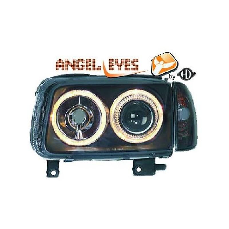 Phares angel eyes noir Vw POLO 99-01