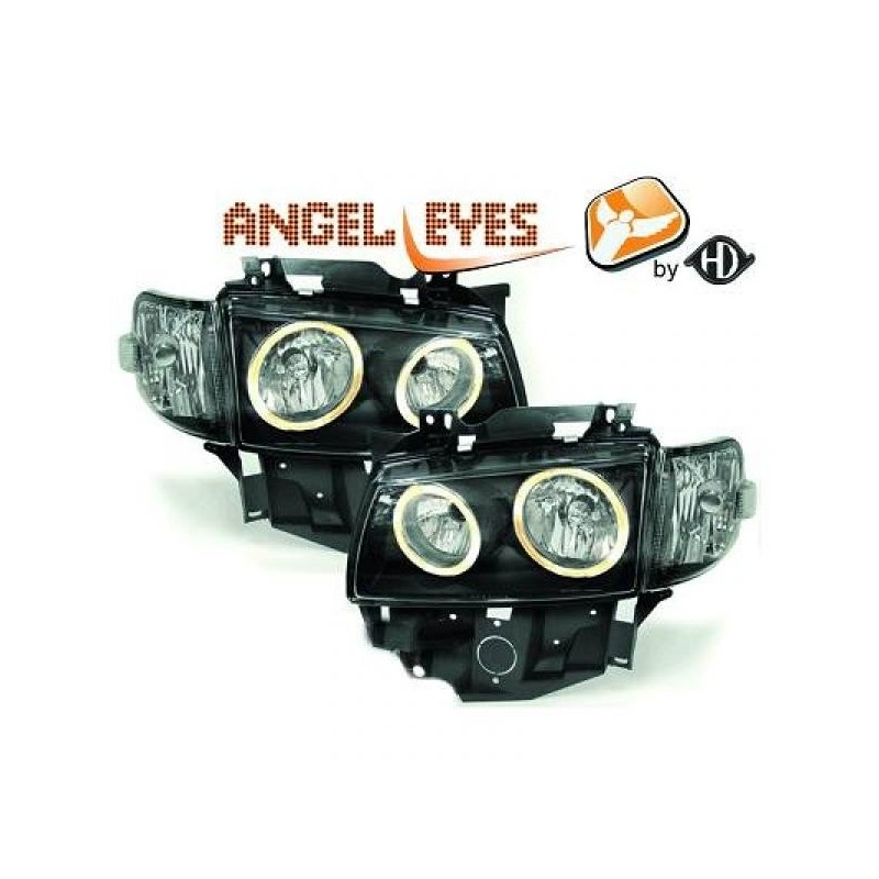 Phares angel eyes noir Vw T4 97-03