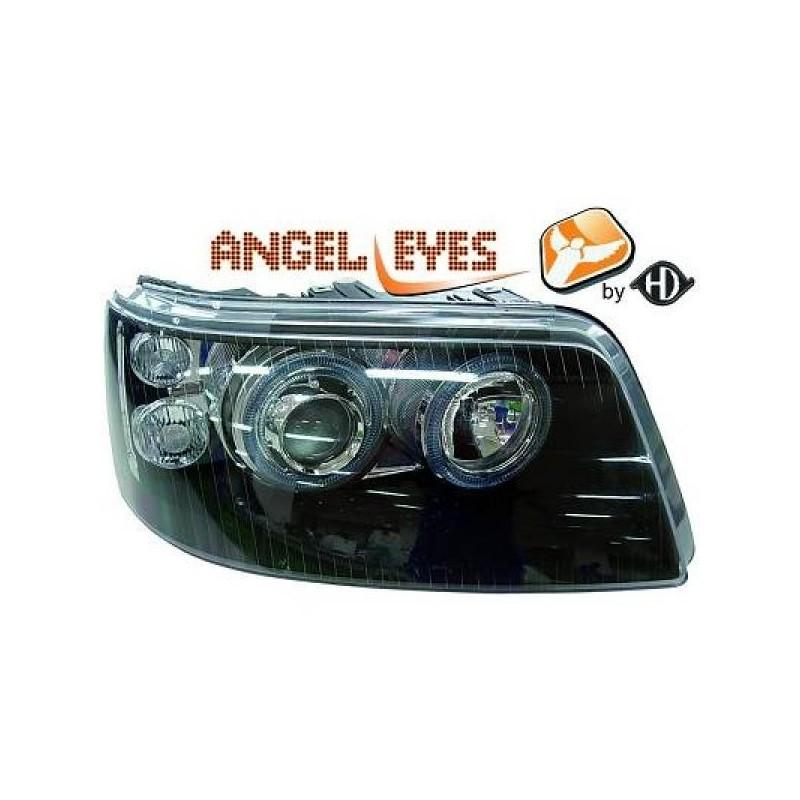Phares angel eyes noir Vw T5 03-10