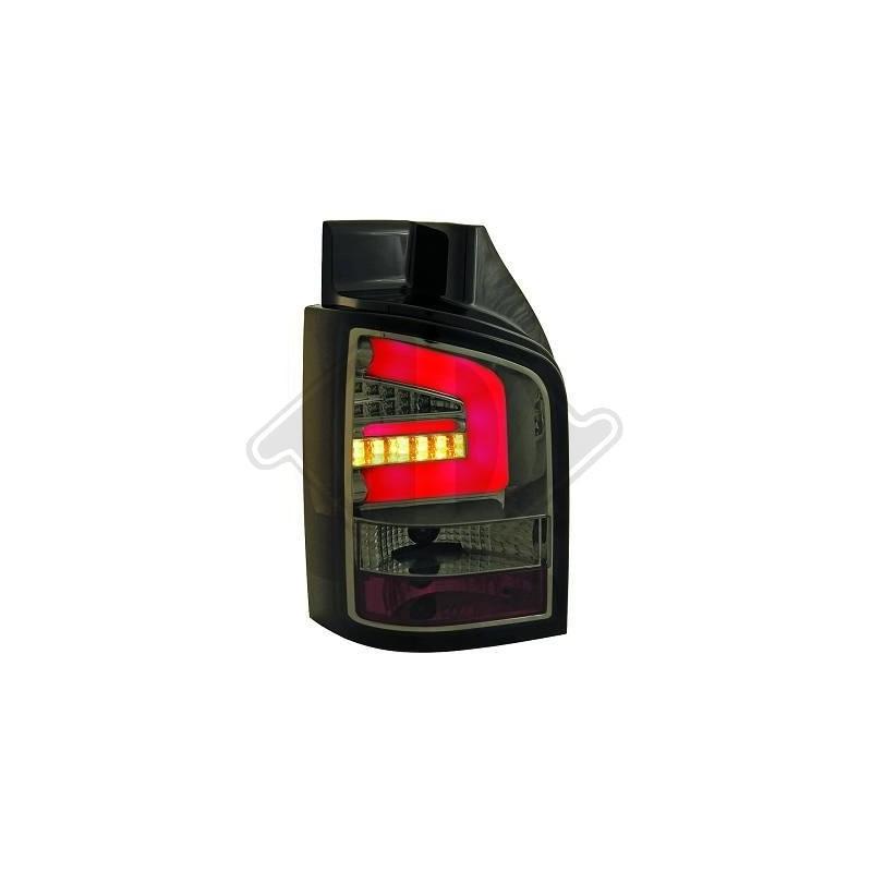 Feux arrières LED vw T5 03-09 pour hayon LED cristal/fumé