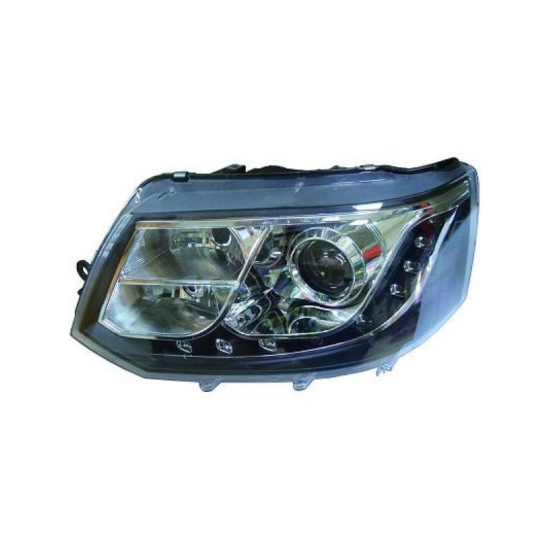 Phares DEVIL EYES LED Vw T5 apres 2010 cristal/noir