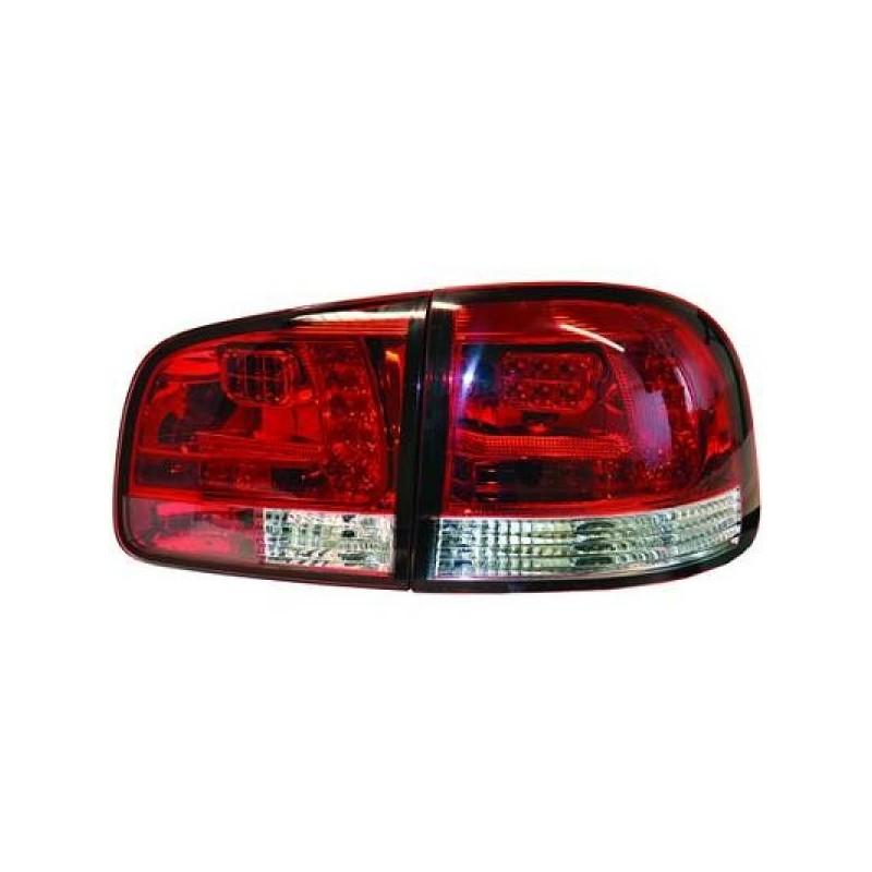 Feux arriere Vw TOUAREG 02-10 LED cristal/rouge-blanc