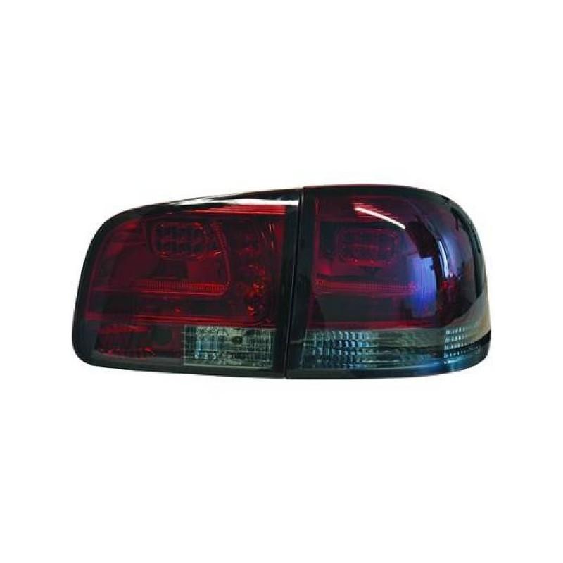 Feux arriere Vw TOUAREG 02-10 LED cristal/rouge-noir