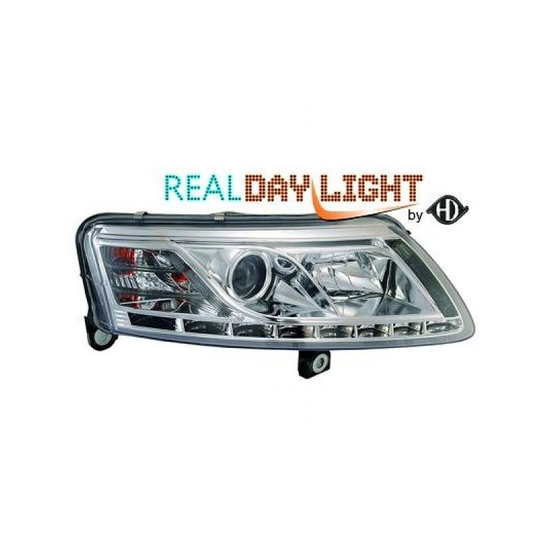 Phares DEVIL EYES LED Audi A6 04-08 cristal/chrome