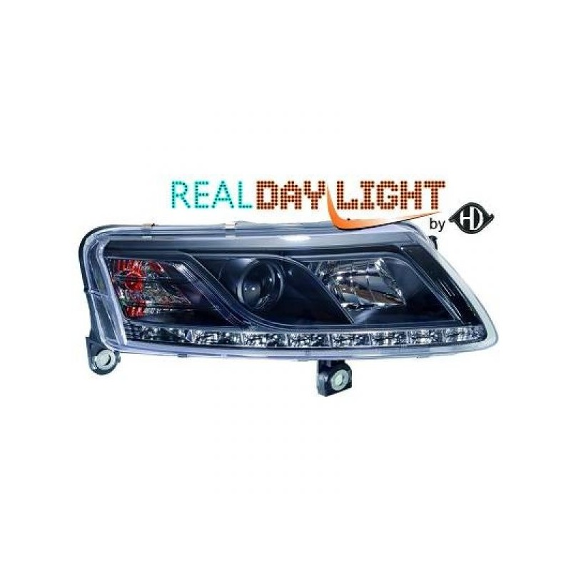 Phares DEVIL EYES LED Audi A6 04-08 cristal/noir