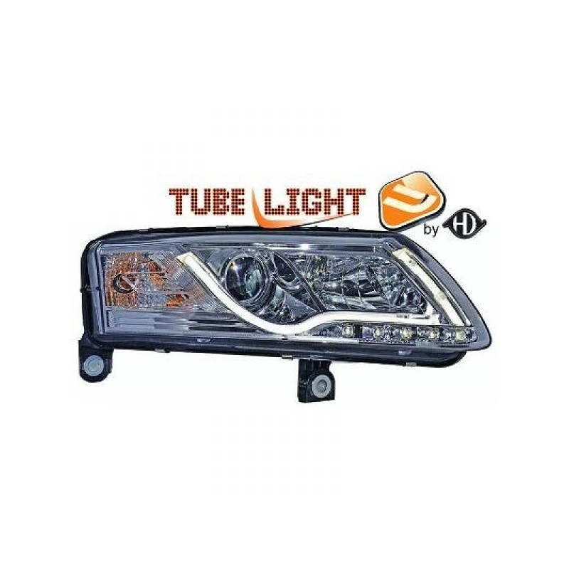 Phares DEVIL EYES LTI Light Tube Inside Audi A6 04-08 cristal/chrome