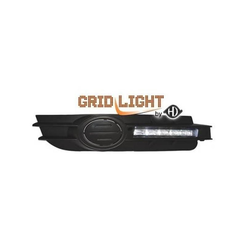 Feux de jour diurnes avec grilles anti-br. Audi A6 04-08 pas S-LINE