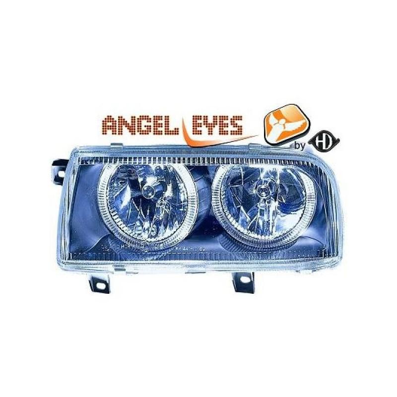 Phares angel eyes noir Vw VENTO 92-98