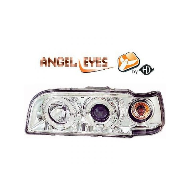 Phares angel eyes chrome .Volvo 850 92-97
