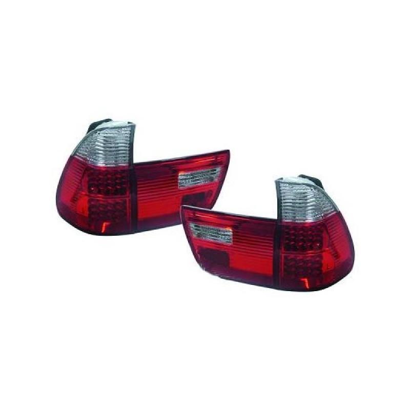 Feux arrières rouge/blanc LED BMW X5 99-03