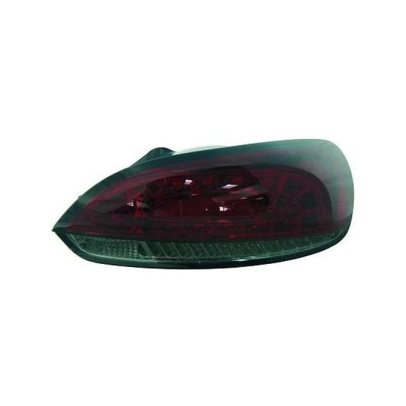 Feux arrière Vw SCIROCCO apres 2008 LED cristal/rouge/noir