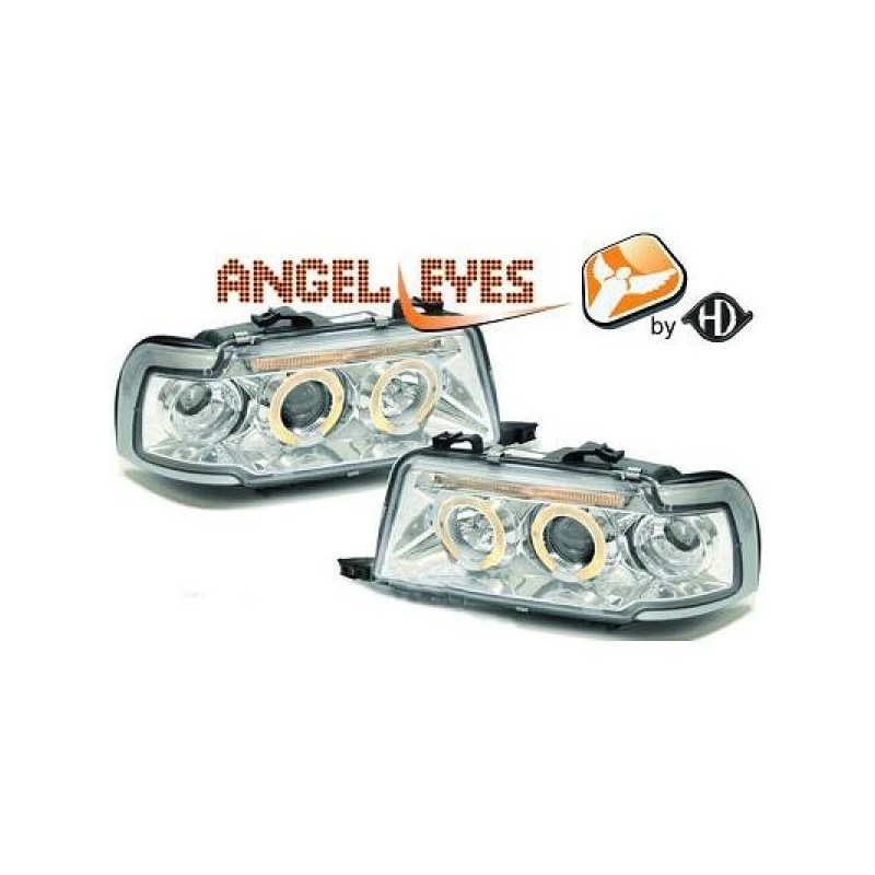 Phares angel eyes chrome AUDI 80 91-94