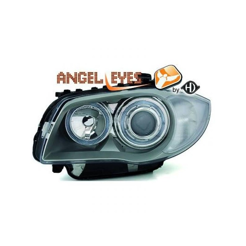 Phares angel eyes chrome Bmw E87 apres 2004