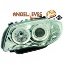 Phares angel eyes chrome Bmw E87 04
