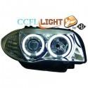 Phares angel eyes CCFL chrome Bmw E87 04 5-portes
