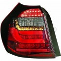 Feu arriere LED rouge/noir Bmw (E81/E87) 08-11