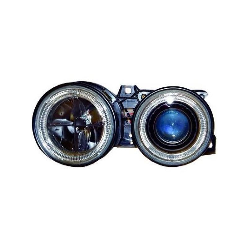 Phares angel eyes noir Bmw E30 88-91
