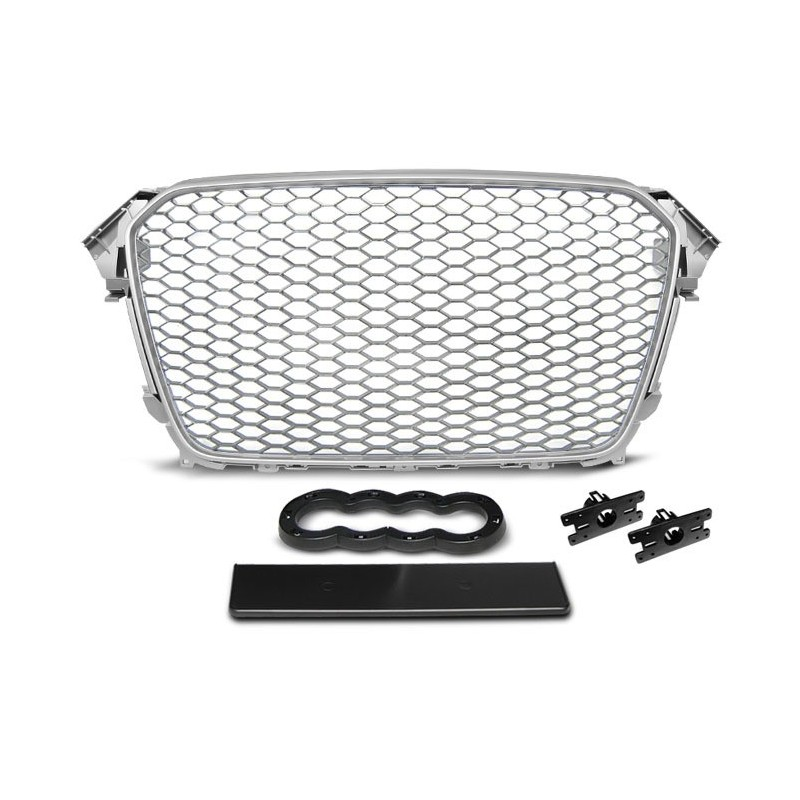 CALANDRE GRILL AUDI A4 (B8) RS-TYPE 11.11-15 SILVER