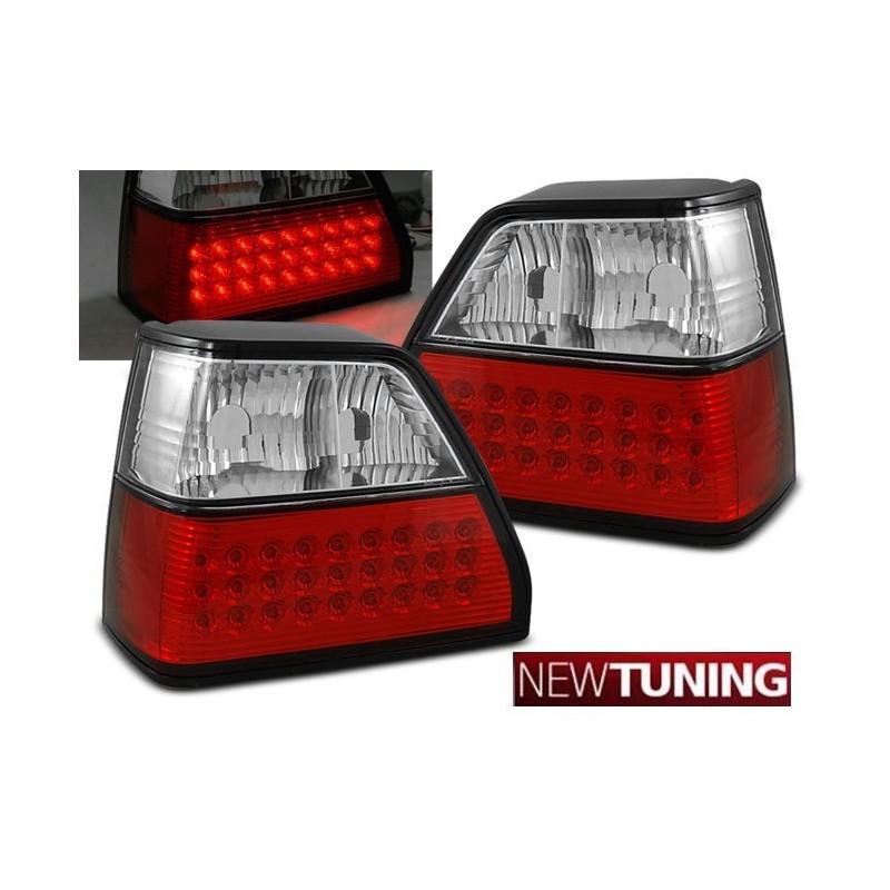 Feux arrières rouge/blanc LED Vw GOLF 2 83-91