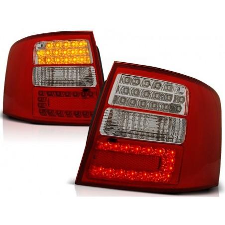 Feux arrières rouge/blanc LED Audi A6 97-04