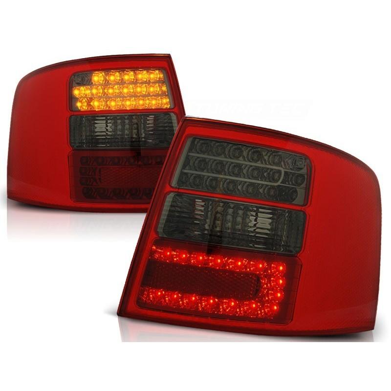 Feux arrières rouge/noir LED Audi A6 97-04