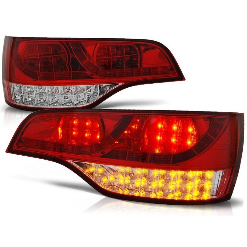 Feux arrières rouge/blanc LED Audi Q7 05-09