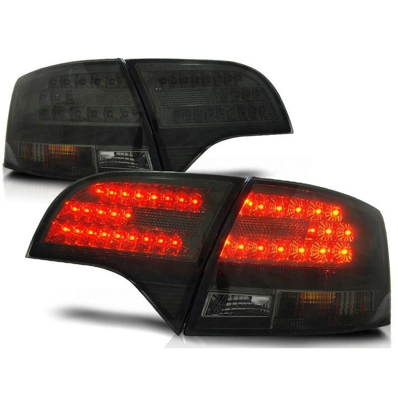 Feux arriere LED Audi A4 05-08 clair/noir