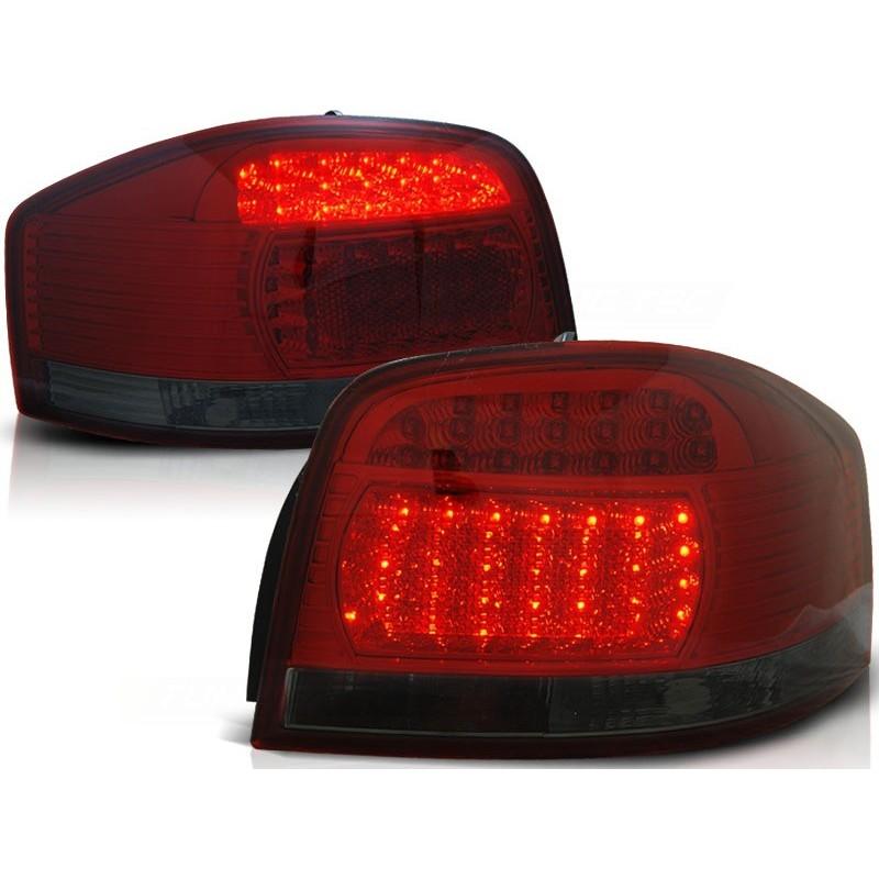 Feux arrières rouge/noir LED Audi A3 3-portes 03-08