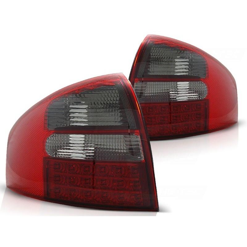 Feux arrières rouge/noir LED Audi A6 97-04 pour Berline