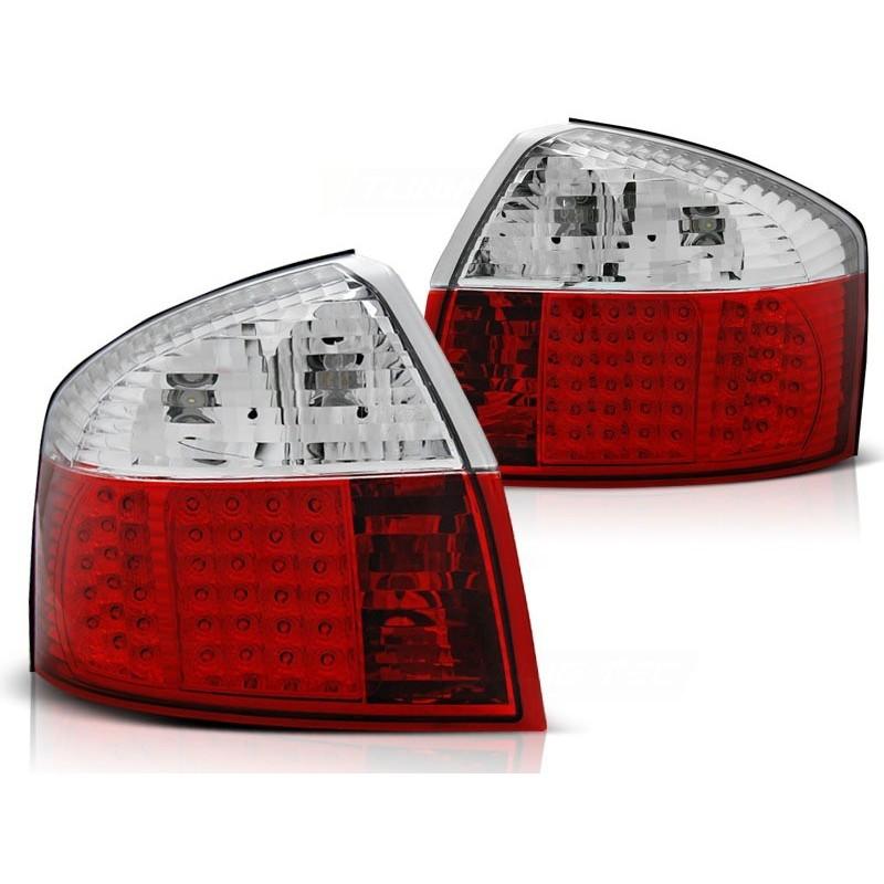 Feux arrières LED rouge/blanc Audi A4 00-04 pour Berline