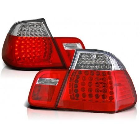 Feux arrières rouge/blanc Look 2001 BMW E46 4-portes 98-01