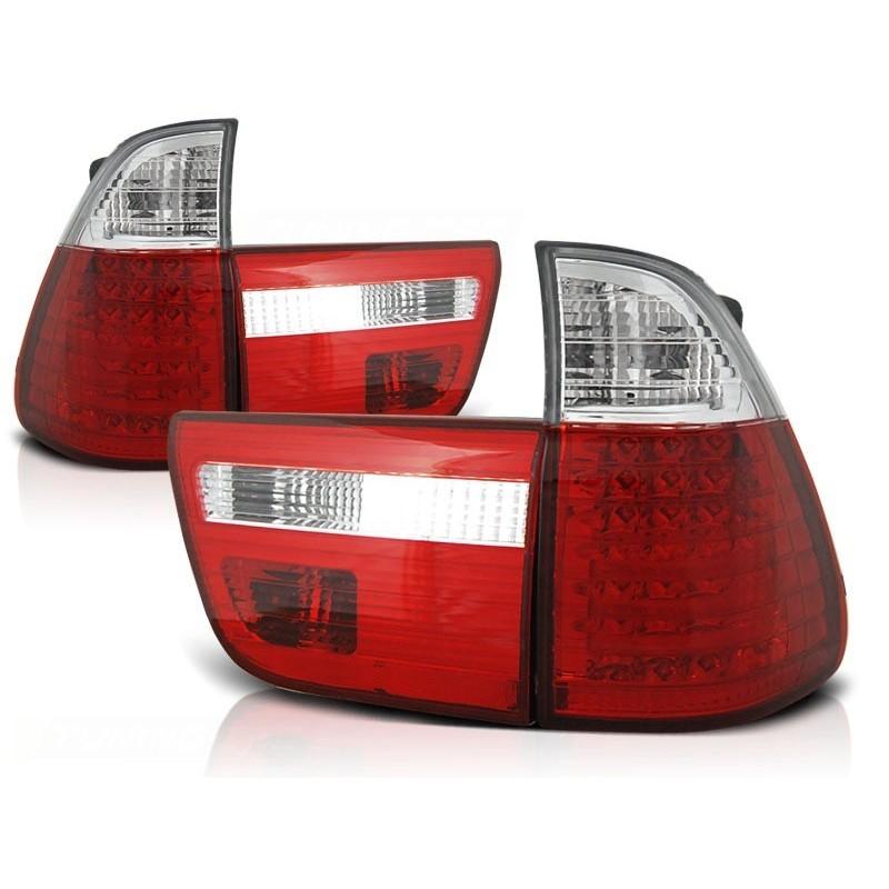 FEUX ARRIÈRE BMW X5 E53 09.99-10.03 ROUGE BLANC LED