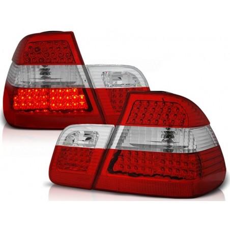 Feux arrières LED rouge-blanc BMW E46 01-05 pour Berline