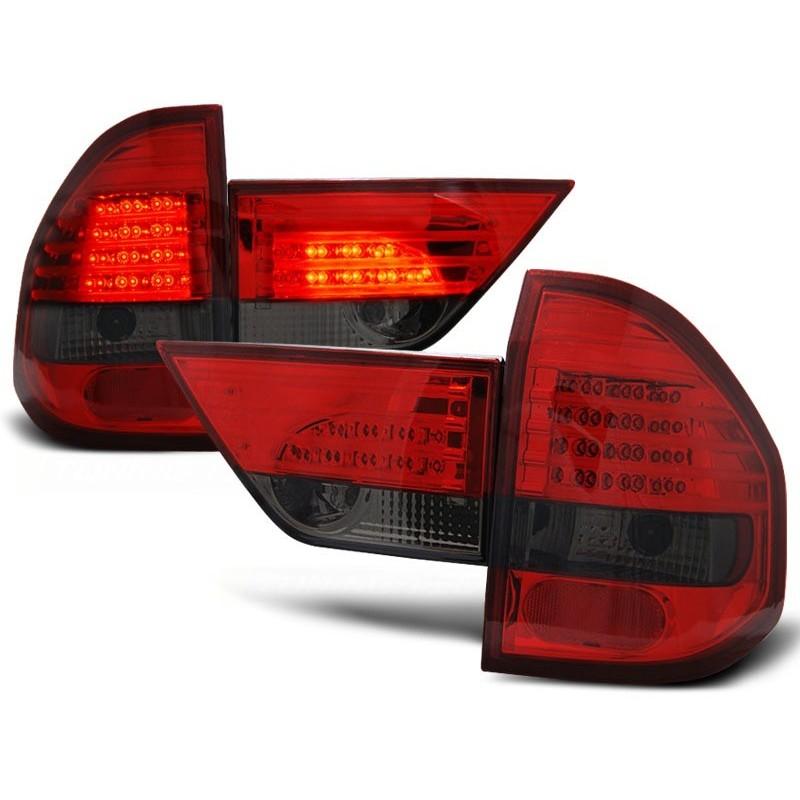 FEUX ARRIÈRE BMW X3 E83 01.04-06 ROUGE FUMÉE LED