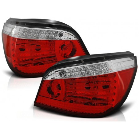 Feux arrières roug/blanc LED + CELIS Bmw E60 03-07