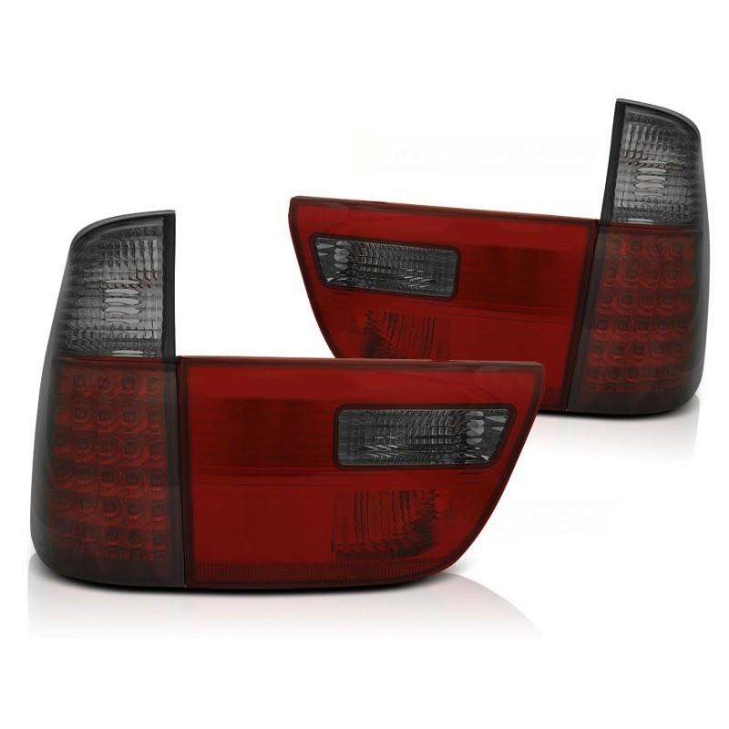 FEUX ARRIÈRE BMW X5 E53 09.99-06 ROUGE FUMÉE LED