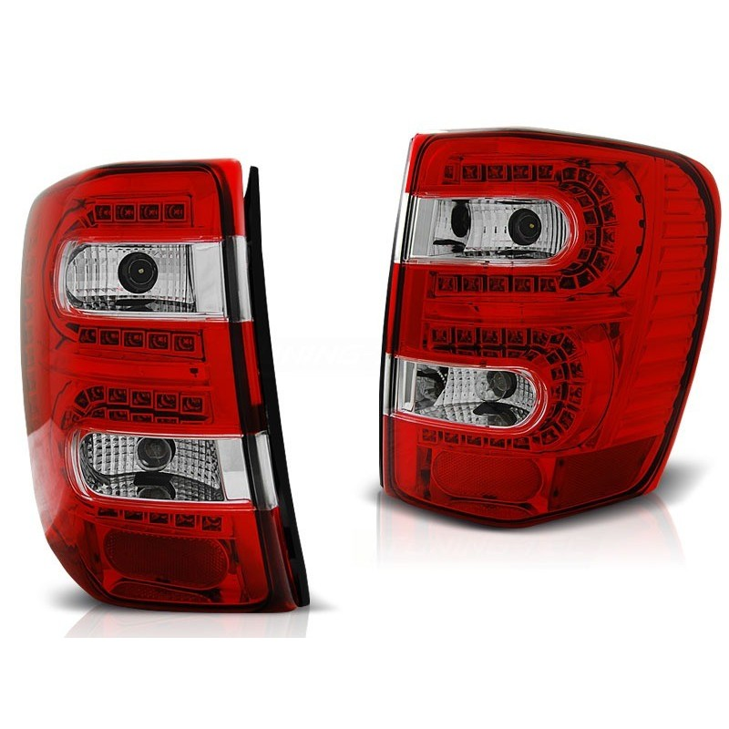FEUX ARRIÈRE CHRYSLER JEEP GRAND CHEROKEE 99-05.05 ROUGE BLANC LED