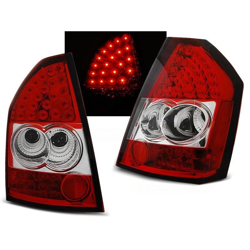 FEUX ARRIÈRE CHRYSLER 300C/300 09-10 ROUGE BLANC LED
