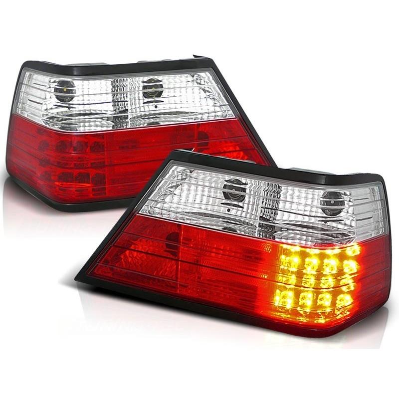 FEUX ARRIÈRE MERCEDES W124 CLASSE-E 01.85-06.95 ROUGE BLANC LED