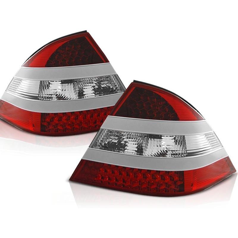 FEUX ARRIÈRE MERCEDES W220 CLASSE-S 09.98-05.05 ROUGE BLANC LED