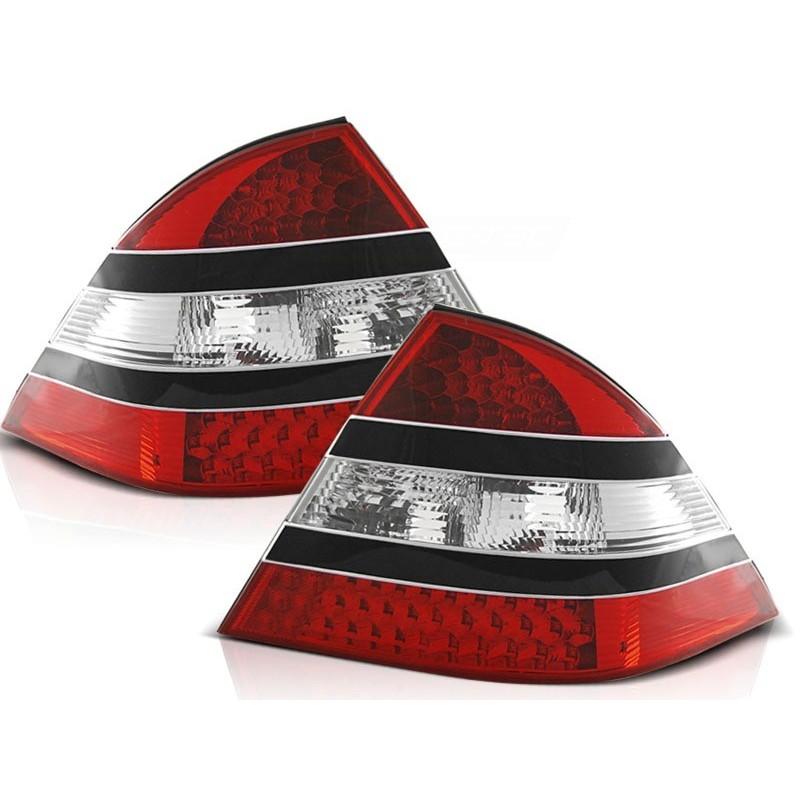 FEUX ARRIÈRE MERCEDES W220 CLASSE-S 09.98-05.05 ROUGE NOIR LED