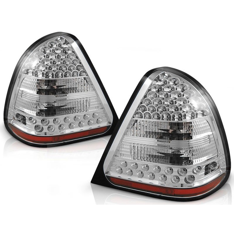 FEUX ARRIÈRE MERCEDES W202 CLASSE-C 06.93-06.00 CHROME LED
