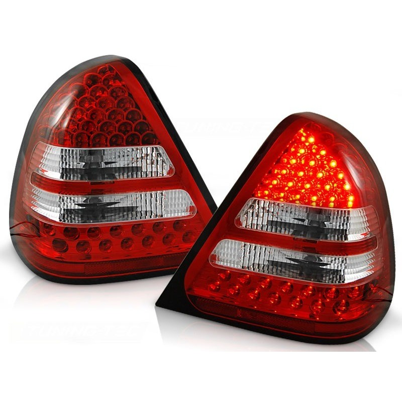 FEUX ARRIÈRE MERCEDES W202 CLASSE-C 06.93-06.00 ROUGE BLANC LED