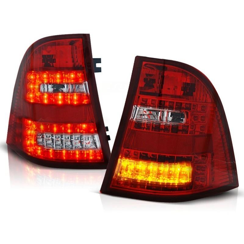 FEUX ARRIÈRE MERCEDES W163 ML CLASSE-M 03.98- 05 ROUGE BLANC LED
