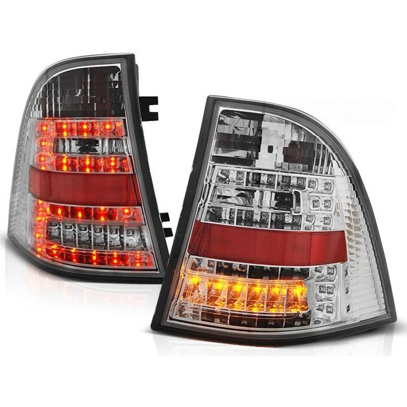 FEUX ARRIÈRE MERCEDES W163 ML CLASSE-M 03.98-05 CHROME LED
